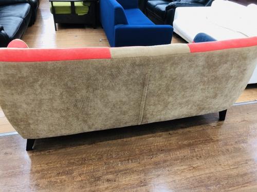 3人掛けソファーのパッチワークソファー