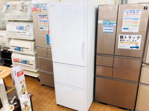 生活家電の3ドア冷蔵庫