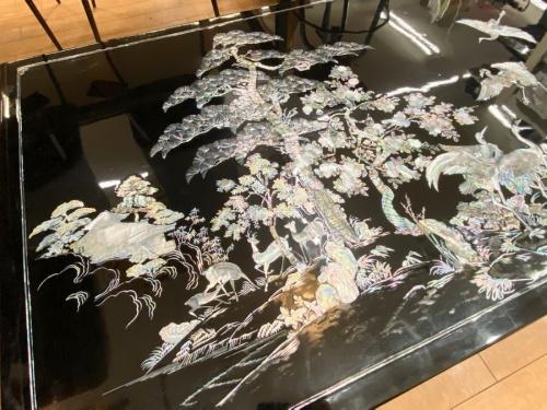 螺鈿テーブルのブラック