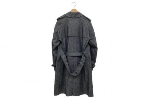 コートのデニムトレンチコート