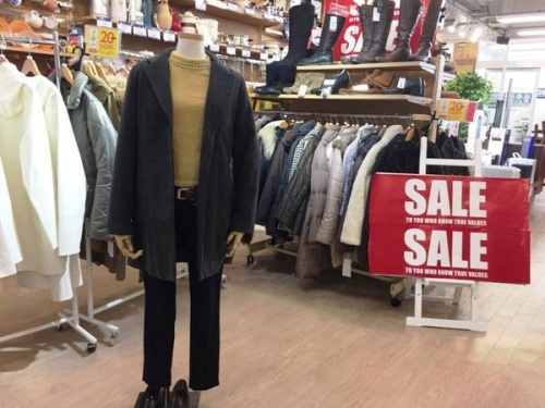 ダウンコートの古着 買取 福岡