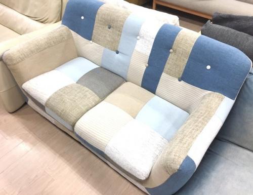 ソファーのパッチワーク 2人掛けソファー
