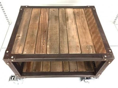 AV収納のルイスサイドテーブル キャスター付ローボード