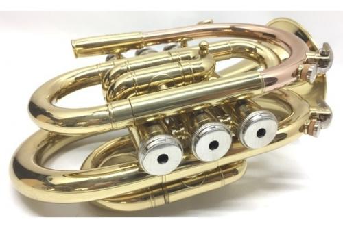 管楽器のポケットトランペット
