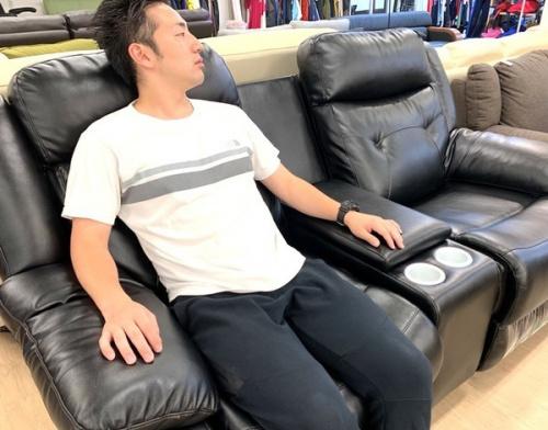 中古家具 福岡のリクライニングソファー