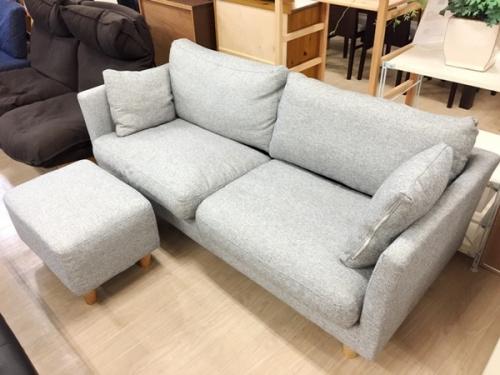 家具の2人掛けソファ