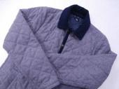 レディースファッションのキルティングコート