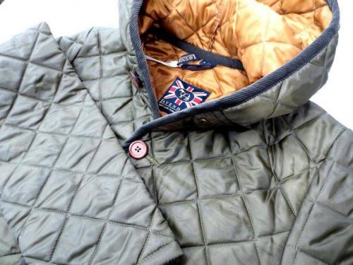 メンズファッションのキルティングジャケット