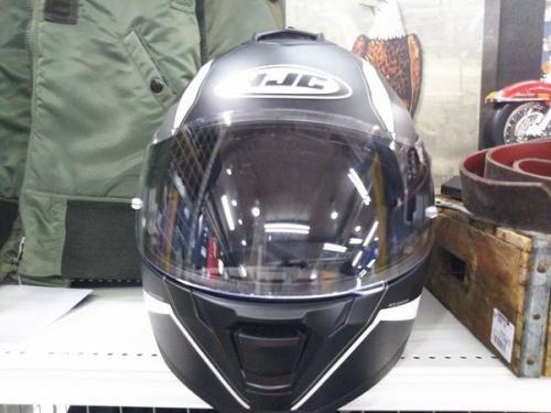フルフェイスのヘルメット