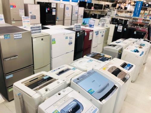 生活家電の冷蔵庫 洗濯機 液晶テレビ 炊飯器 電子レンジ