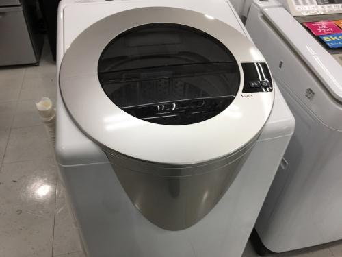 生活家電の洗濯機 中古 8kg アクア