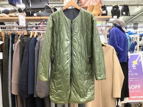 ジャケットのキルティングコート