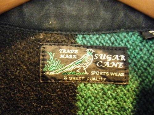 SUGER CANEのウールシャツジャケット