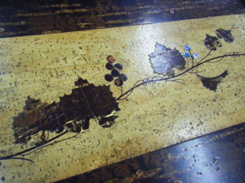 テーブルウェアの桜皮細工