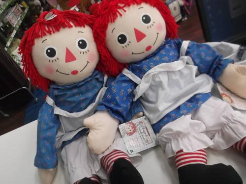 人形のraggedy ann and andy ラガディ・アン&アンディ