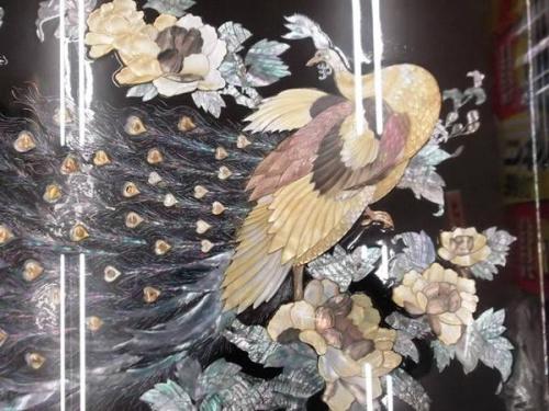 螺鈿細工の孔雀