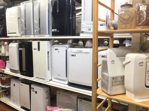 空気清浄機のテレビ