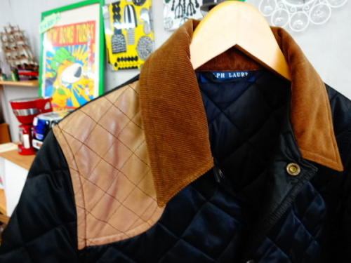 キルティングジャケットのラルフローレン