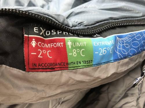 キャンプ用品のExosphere-8℃SL