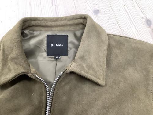 ジャケットのレザーブルゾン