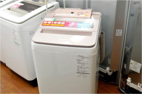 中古の洗濯機