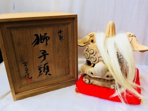 獅子頭の井波彫刻