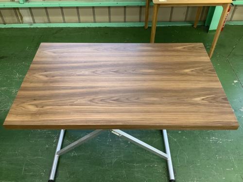 テーブルの昇降式ダイニングテーブル