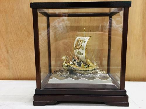 置物の銀製 宝船