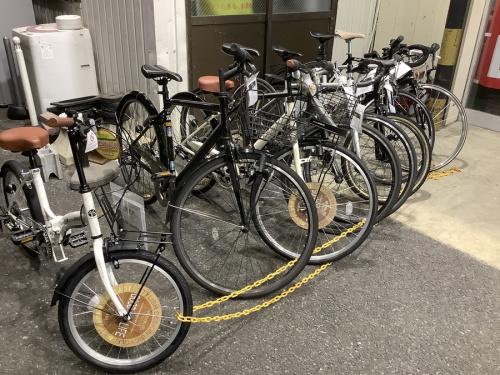 キャンプの自転車