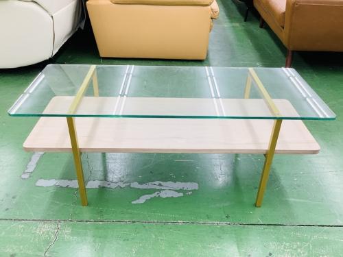 テーブルのガラストップコーヒーテーブル