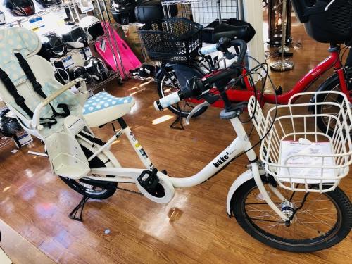 中古自転車の子乗せ自転車