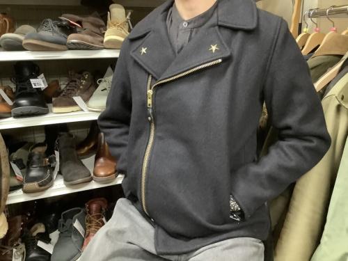 メンズファッションのダブルライダースジャケット