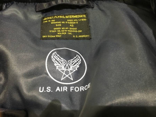 B15フライトジャケットのWIP WAIPE