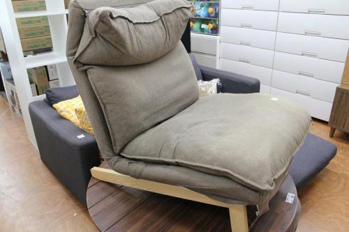 無印良品のリクライニングソファー