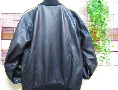 ジャージのレザートラックジャケット