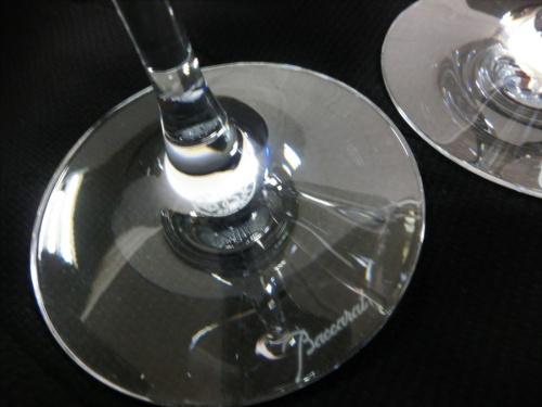 ガラスのワイングラスセット