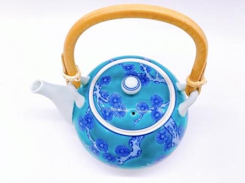 喫茶の急須 土瓶(天草)緑濃松