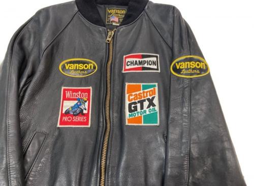レザージャケットのVANSON バンソン