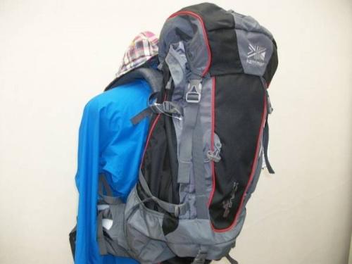 登山用品のバックパック