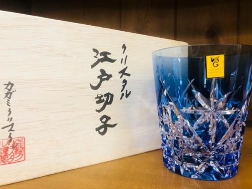 江戸切子のペアロックグラス