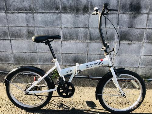 上福岡 アウトドア用品 中古の折りたたみ自転車