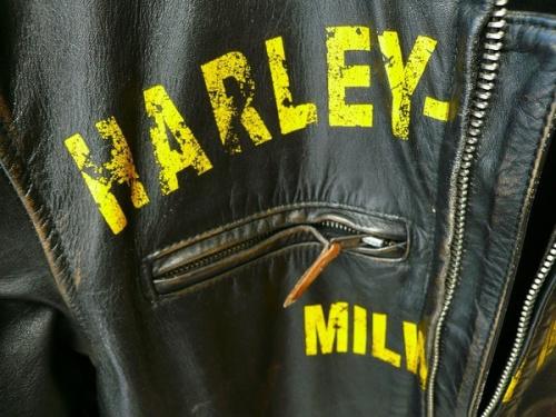 ウォッシュ加工レザージャケットのHARLEY-DAVIDSON