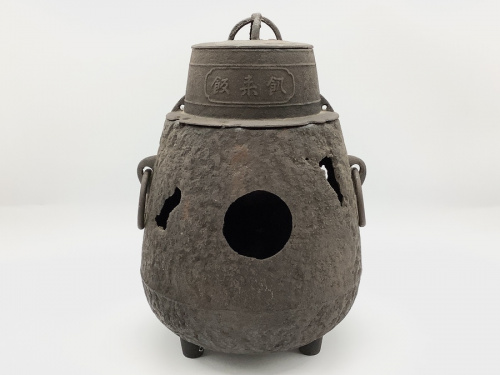 インテリア小物の銅蓋菊摘茶釜