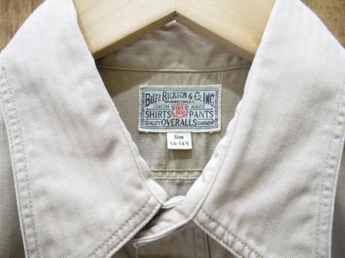 ヘリンボーンワークシャツのBUZZ RICKSONS