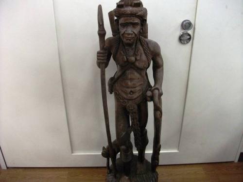 エスニック雑貨の木彫り