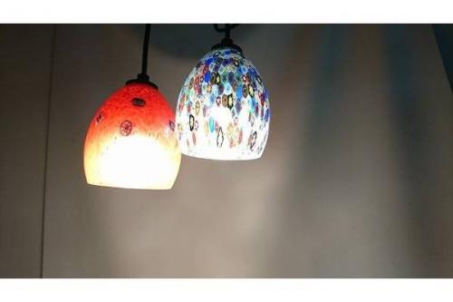 照明のヴェネチアンガラス