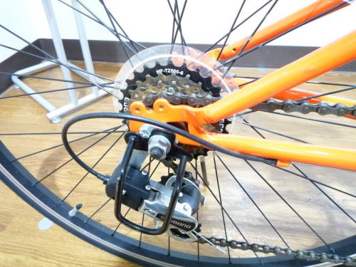 自転車の折りたたみクロスバイク