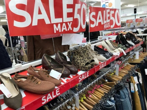 衣類川越店のSALE