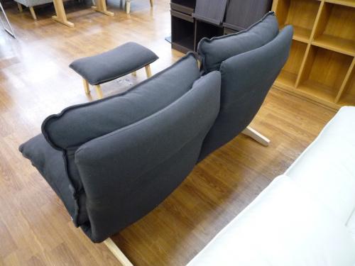 ハイバックリクライニングソファー(オットマン付)の無印良品