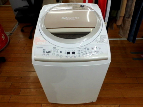 TOSHIBAの縦型洗濯乾燥機